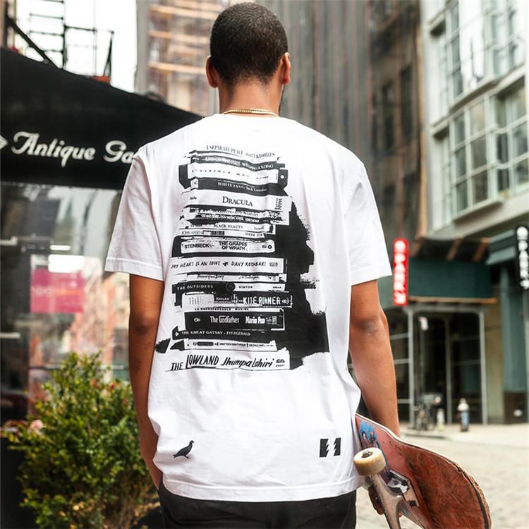 STAPLE KNITTED MENS T-SHIRT HUNDREDS联名 书本字母印花短袖T恤