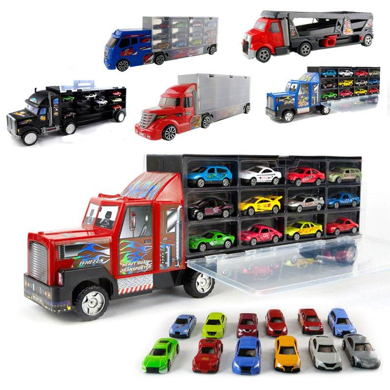 高樂大型貨櫃車滿載合金小車收納套裝 可放多美卡 GL8909D 8908A