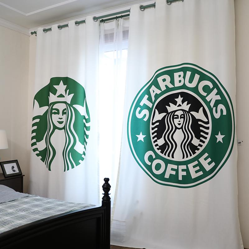 新款北欧风格窗帘成品简约现代卧室清新半遮光客厅高档大气星巴克