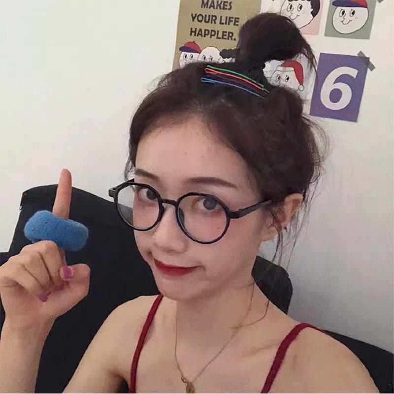 新款黑框眼镜女文艺复古不规则圆形近视眼镜架韩版潮素颜网红2019
