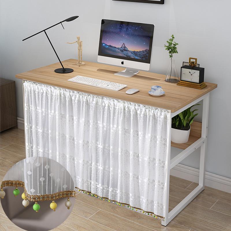 免钉桌子遮挡帘储物桌柜装饰帘书桌遮布置物架橱柜盖布装饰巾