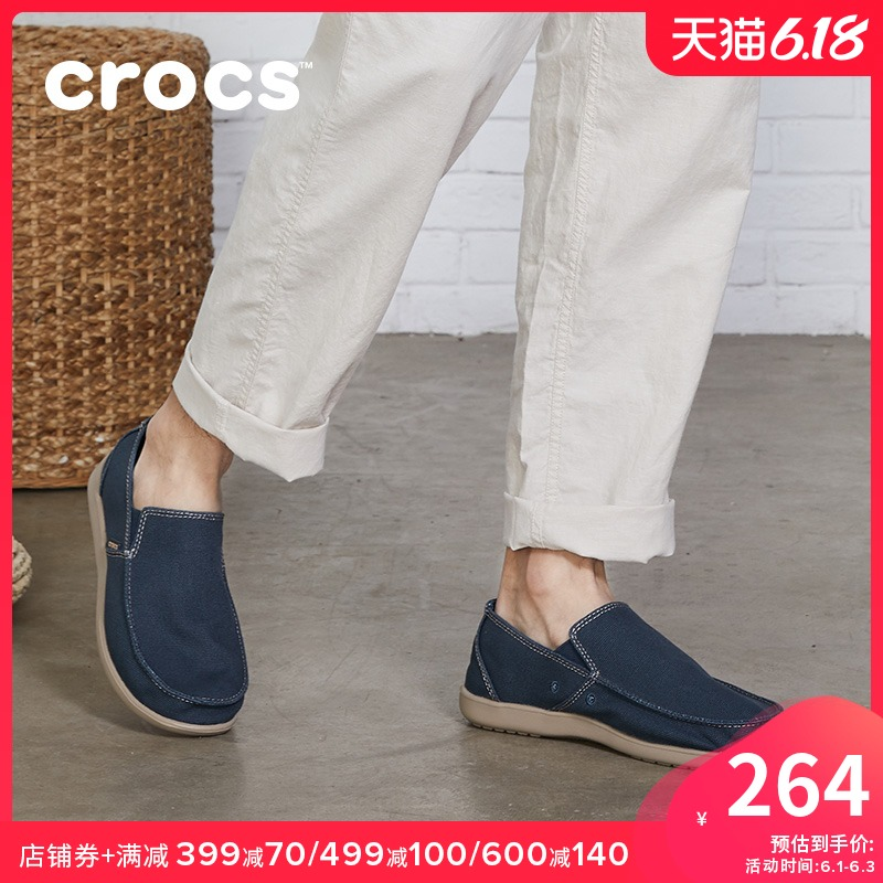 Crocs canvas shoes men's karoochi one foot shoes casual business fashion shoes low top loafers 202972