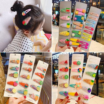 儿童发夹流沙水果宝宝头饰公主小童韩国夹子bb夹网红女童发卡发饰