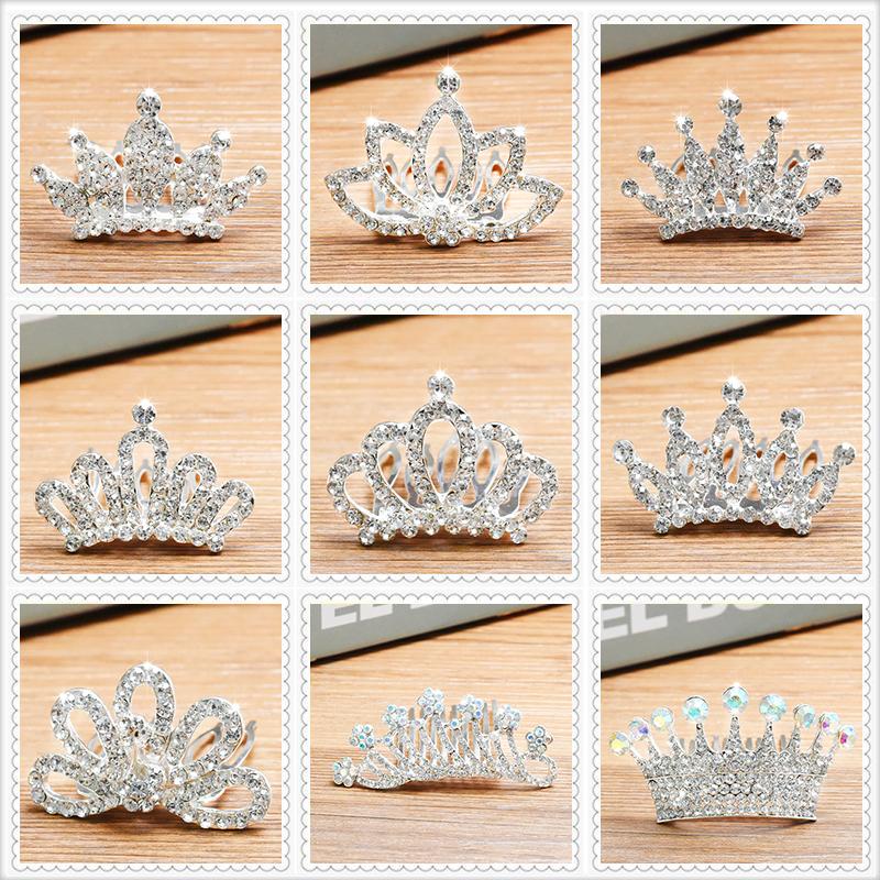 女童皇冠头饰 公主 韩式儿童发梳宝宝发饰水钻发箍王冠小女孩发卡