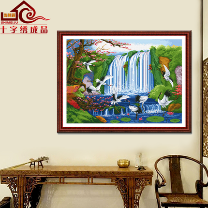 Hand made cross stitch finished product world fairyland heaven paradise living room new painting embroidered package