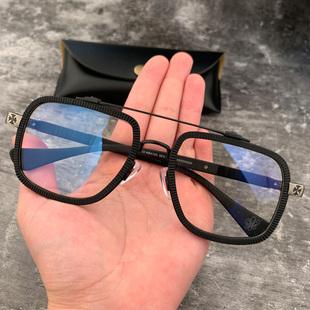宝剑克罗心眼镜框大框板材双梁方形大脸复古近视蛤蟆镜男女眼镜架