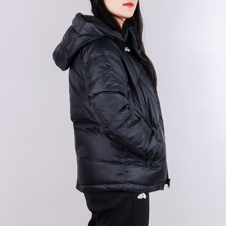 李宁短款羽绒服女2020训练系列连帽修身白鸭绒保暖外套冬季运动服图片