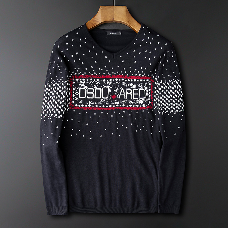 Young and middle aged mens sweater fat mens round neck warm bottoming shirt plus extra size winter top fashion brand