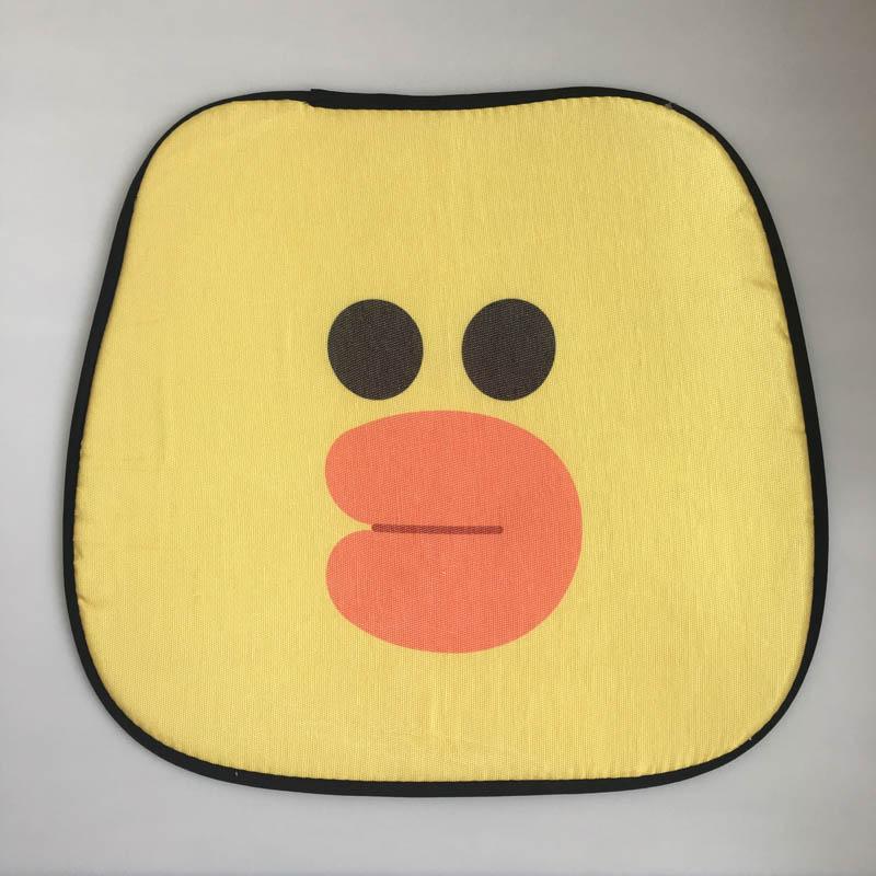 夏季凉席椅子垫汽车坐垫透气清爽可爱卡通小黄鸭冰丝单人包邮
