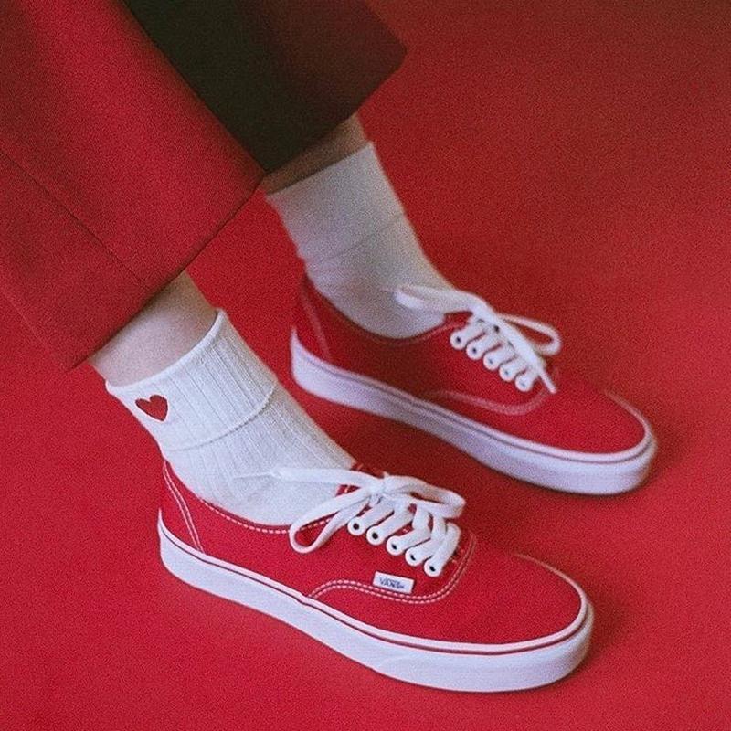 【现货】VANS AUTHENTIC范斯红色低帮经典款男鞋女鞋 VN-0EE3RED
