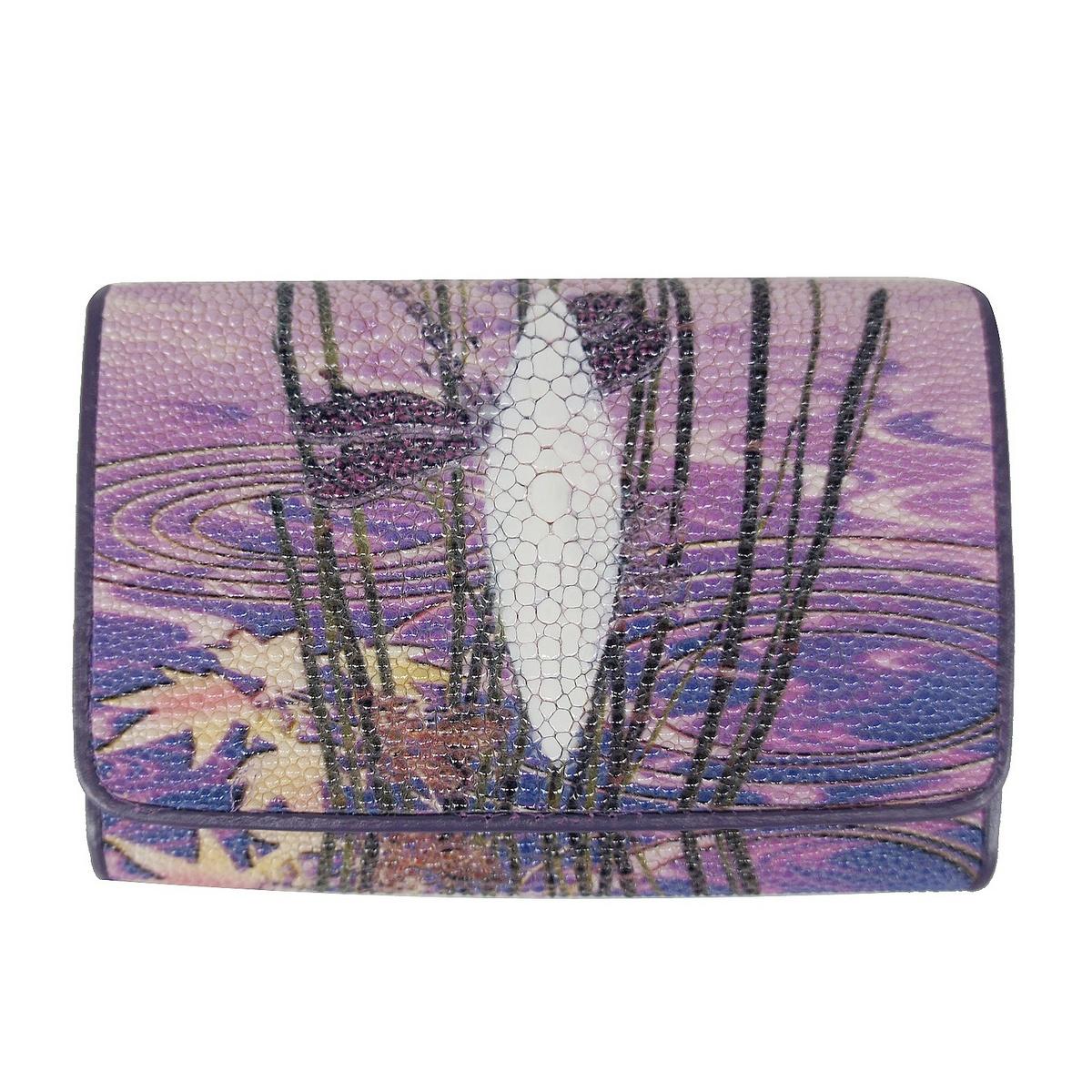 Yongliang New Pearl fish skin fashion short wallet three fold womens wallet leather wallet womens purse
