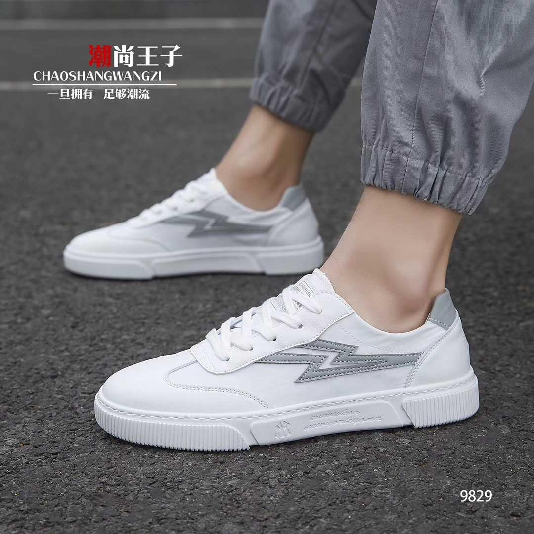 开春新款男鞋系带流行布面料男鞋潮鞋单鞋低帮鞋软底板鞋时尚休闲