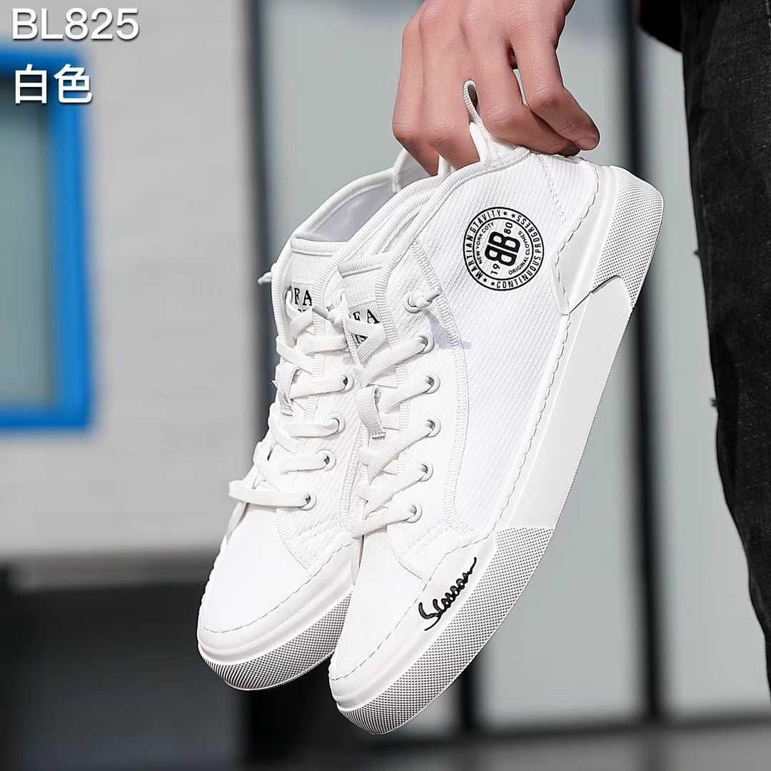 新款男鞋系带男鞋中低帮男鞋冰丝布面料透气男鞋流行潮鞋软底板鞋