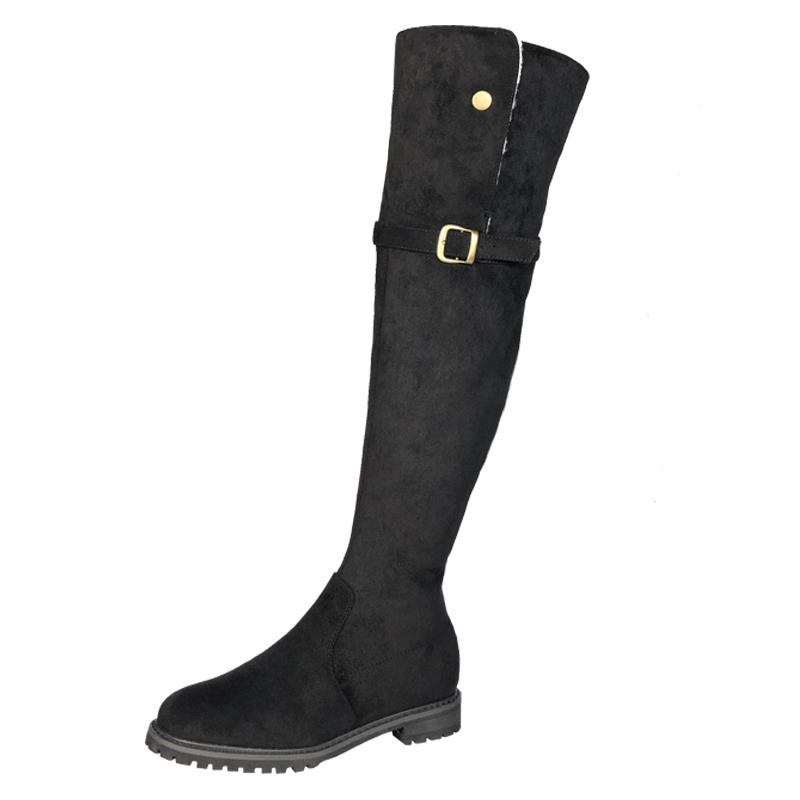 长靴搭什么穿:过膝长筒靴穿搭冬季