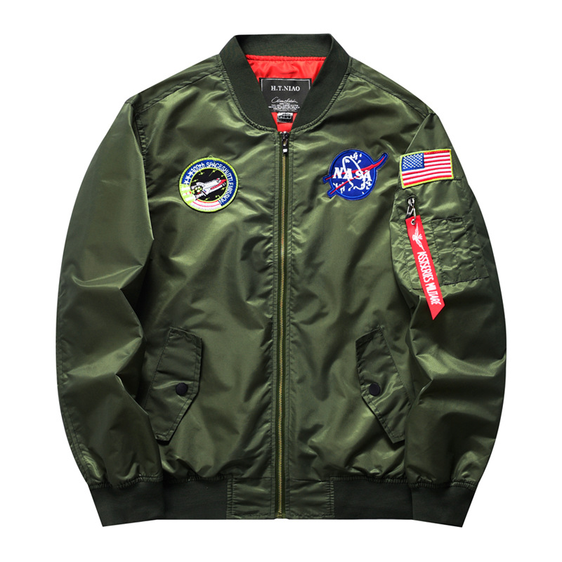 New foreign trade spring and autumn mens Baseball Jacket pilot jacket sports leisure large mens jacket