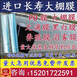 进口大棚膜PO蔬菜无滴保温透明塑料薄膜布防晒加厚养殖隔热黑白膜图片