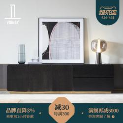 卫诗理轻奢实木电视柜现代简约客厅家具装饰地柜矮柜储物柜C5新品