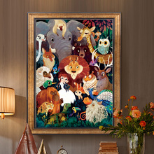 Royal KS animal world cross stitch small pieces 2019 new line embroidery living room bedroom porch small simple full embroidery