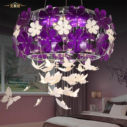 歐式LED吊燈田園水晶 浪漫家用餐廳燈客廳臥室燈具燈飾