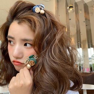 韓國網紅ins頂夾超仙夾鴨嘴夾髮夾森系少女髮卡邊夾頭仙女髮飾