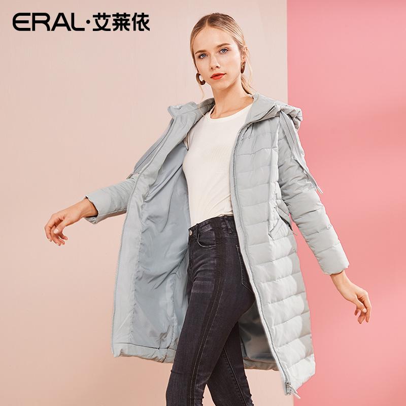 艾莱依2018新款反季清仓正品羽绒服女轻薄宽松显瘦外套617104136