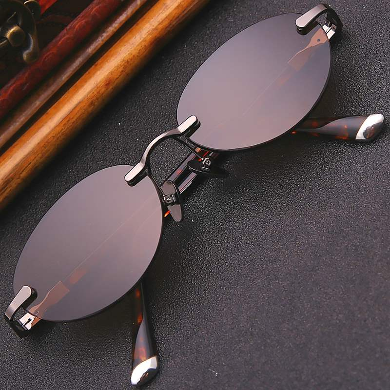 Genuine pure crystal stone glasses small oval frameless natural crystal glasses ladies fashion sunglasses