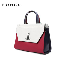 Red Valley bag, women's bag, new fashion, color, leather, single shoulder, handbag, satchel, temperament, handbag, handbag.
