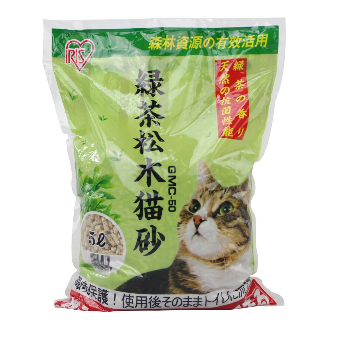 波奇網 寵物用品愛麗思綠茶鬆木貓砂5L 無粉塵貓砂 除臭貓沙
