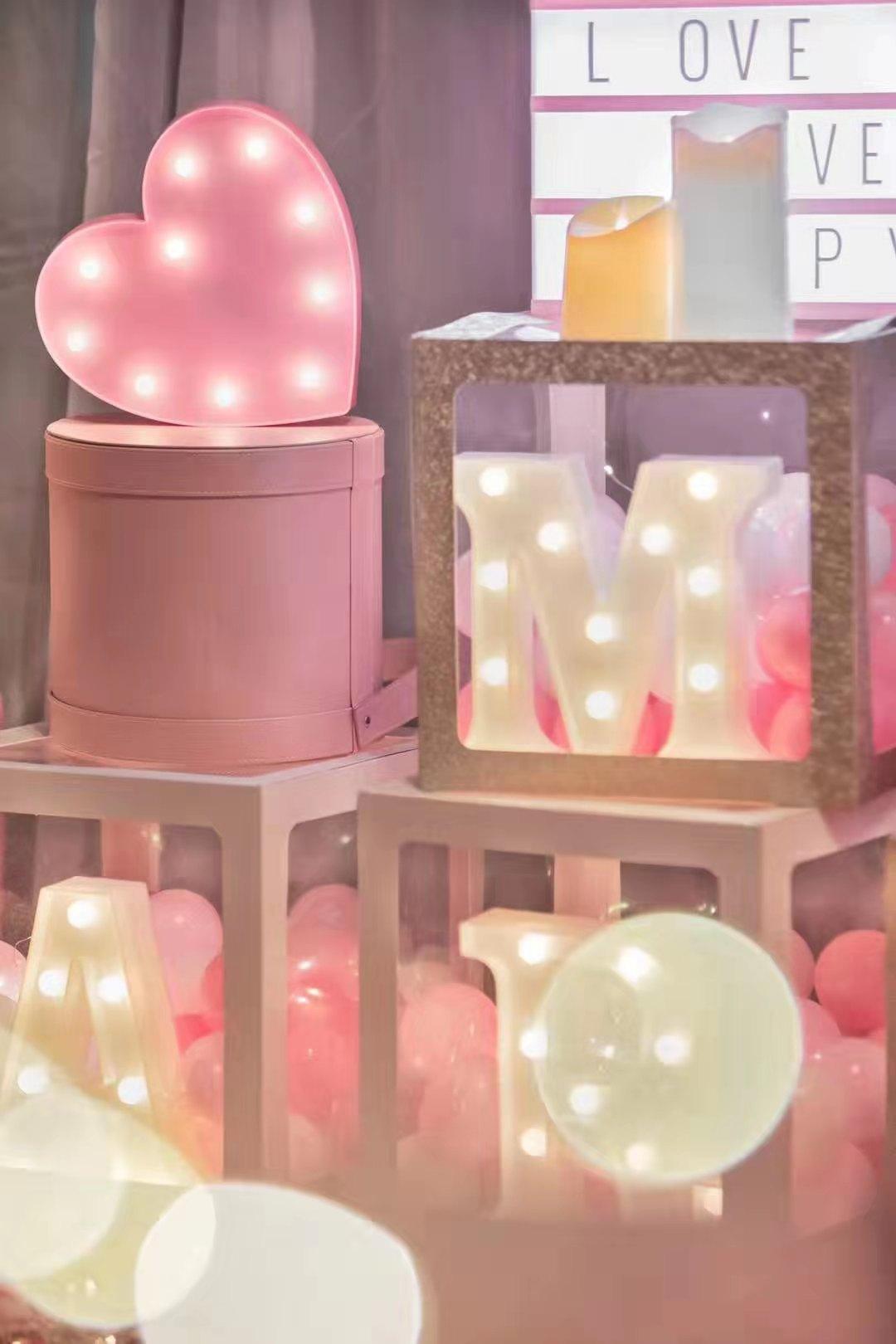 气球盒橱窗布置道具IDo定制款不支持退货买即默认婚庆生日派对用