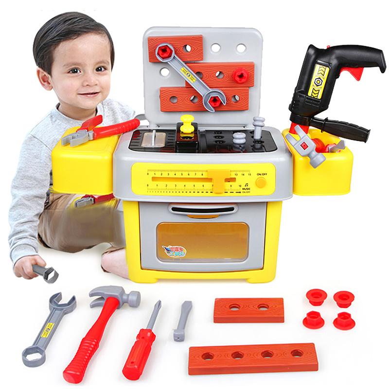 澳貝寶寶工具台箱螺絲拆卸男孩益智兒童拚裝動手螺母 拆裝玩具