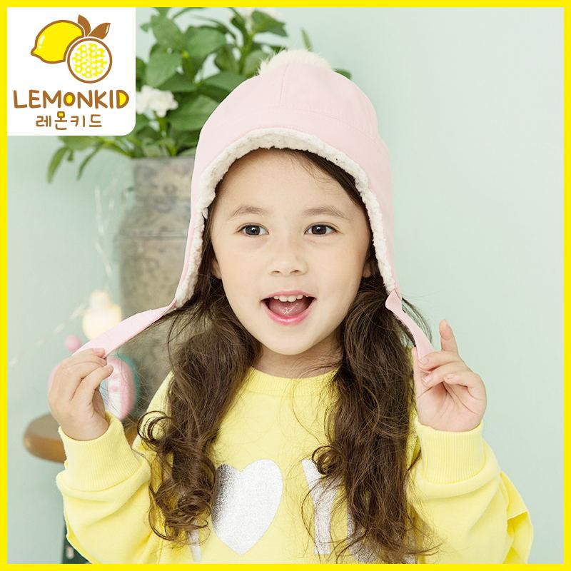 66柠檬宝宝男女童儿童秋冬季保暖婴儿帽子护耳套头毛线帽男孩韩版