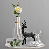 Nordic simple modern vase decoration home jewelry living room wine cabinet decorations Decoration Creative Ceramic deer Decoration