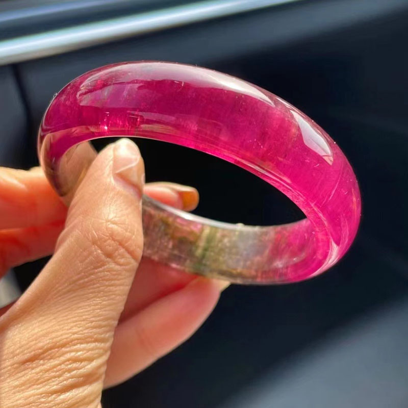 Magic Crystal natural gem red tourmaline rupee tourmaline Bracelet rupee red tourmaline tourmaline Bracelet