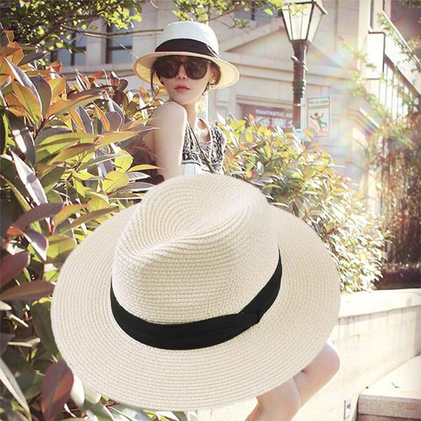 呛口小辣椒同款巴拿马草帽韩版女百搭夏季休闲遮阳沙滩度假帽