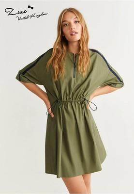 欧美时尚休闲束腰宽松短袖连衣裙英国正品代购新品19秋新品