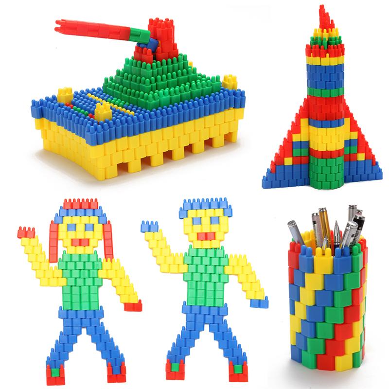 【胜廷玩具】火箭子弹头桌面积木玩具益智
