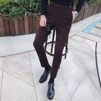 18秋冬季新款西裤男士韩版修身潮流英伦风休闲长裤XZ401-2-K006
