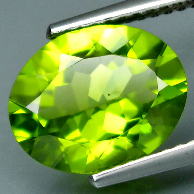 Chrysolite, emerald, natural gem, naked stone, ring face, 3.20 carat necklace, pendant with video package