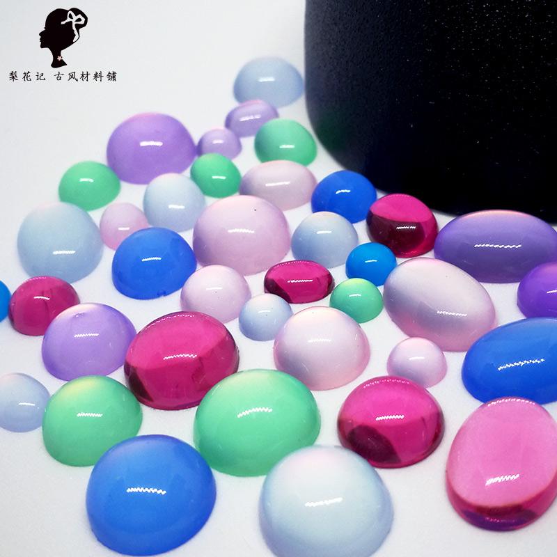 Чувство цвета груши копия Агатовая смола патч-кольца face шпилька аксессуары для волос антикварные материалы аксессуары кольцо инкрустация материал