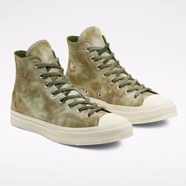 匡威Converse 1970s水洗扎染绿色复古高帮女士板鞋新款正品代购