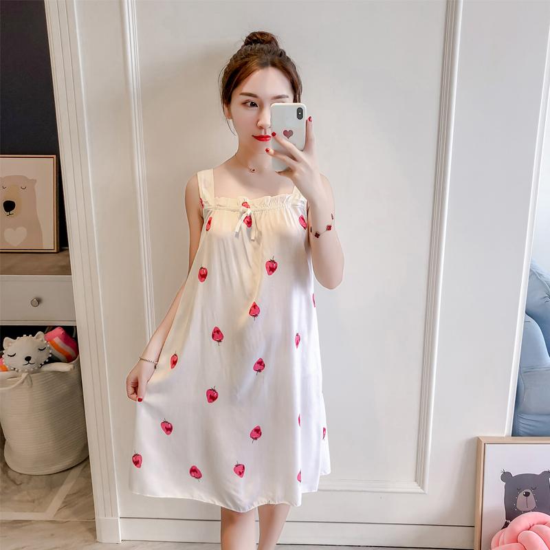 夏韩版清新学生性感吊带绵绸睡裙不包邮