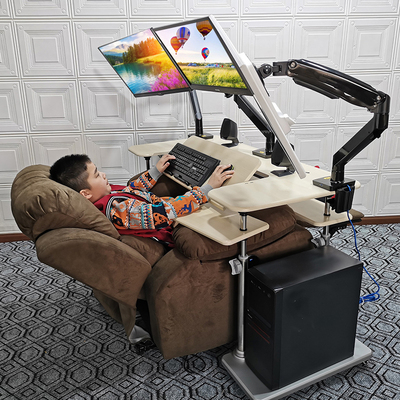 Gaming chair desktop computer desk household folding lifting table lazy table simple computer desk mobile lifting bracket