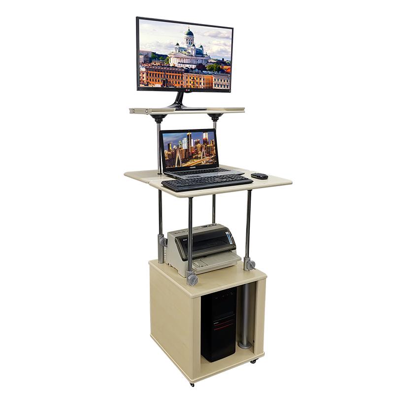 站立上网电脑桌台式电脑桌办公桌简约电脑桌可移动升降桌调音台桌