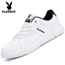Playboy Men's Shoes Summer Breathable New Fashion Shoes Korean Edition Fashion Small White Shoes Sports Leisure Shoes Board Shoes for Men