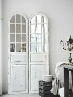 实木镜子屏风隔断装饰玄关客厅ins房间卧室创意遮挡煞家用北欧风