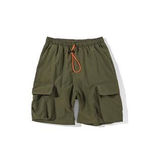 FJQ 夏季新款街头潮流工装短裤大口袋宽松嘻哈运动休闲五分裤