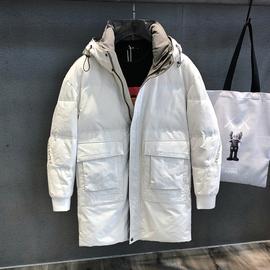 未来简约工装潮牌羽绒服男中长款潮流冬季2020新款加厚外套男装