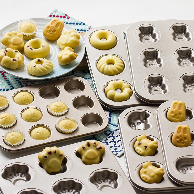 卡通6/9/12连模猫爪甜甜圈马芬小蛋糕杯DIY烤-钢筋切割工具(德立旗舰店仅售12.8元)