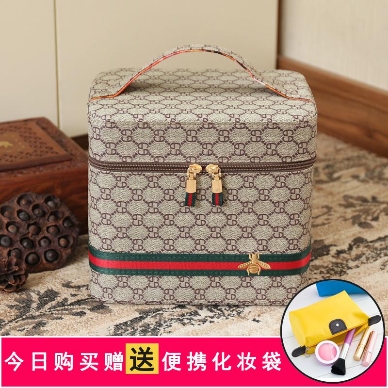化妝包小號韓國便攜化妝盒少女簡約多功能多層大容量化妝品收納箱