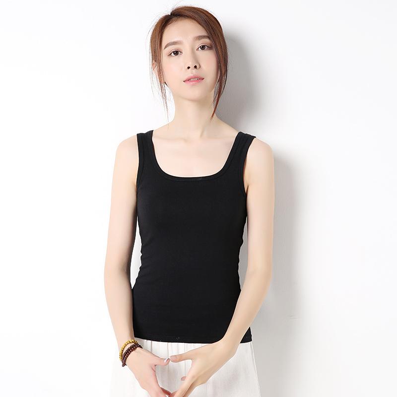 Xinxuan spring and summer new I-shaped vest womens summer slim versatile bottom vest womens solid color womens suspender vest